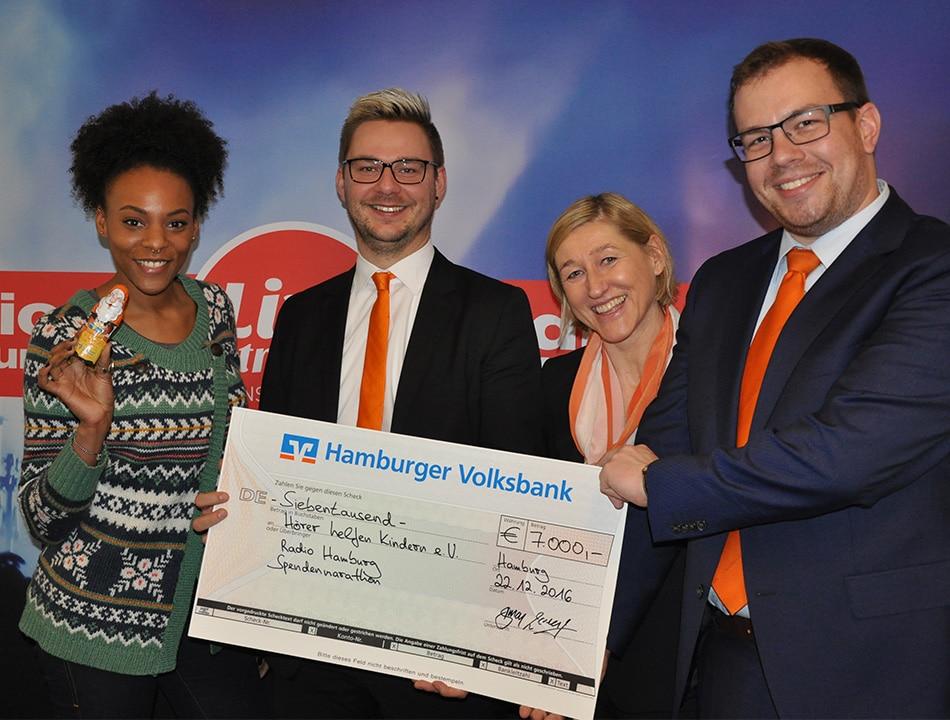Hamburger Volksbank Billstedt, 7.000 Euro, Simon Lorenz und Heidi Mehlis