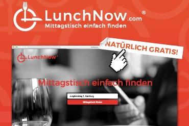 LunchNow.com bei Radio Hamburg und HAMBURG ZWEI.