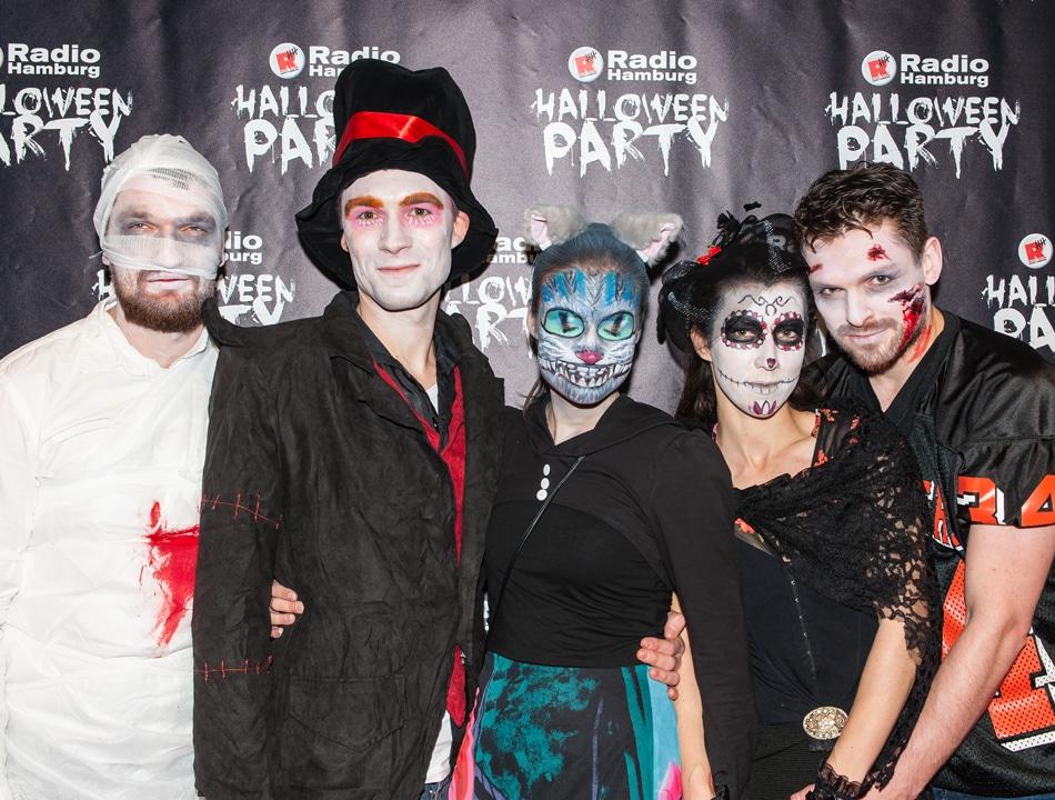 Event Sponsoring: Die Kostüme zur Radio Hamburg Halloween Party waren wieder zum Gruseln.