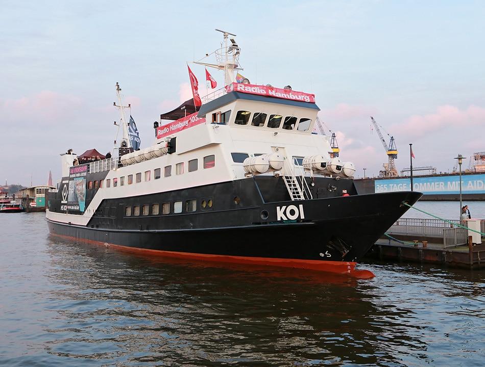 Event-Sponsoring mit Radio Hamburg auf der MS Koi.