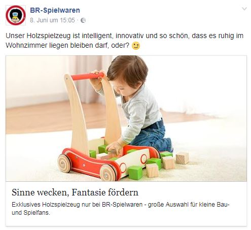 Facebook Post BR Spielwaren