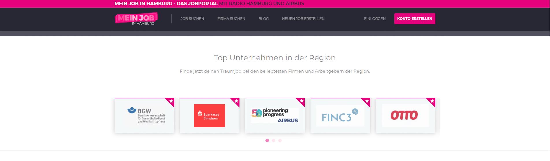 Top Unternehmen Screenshot