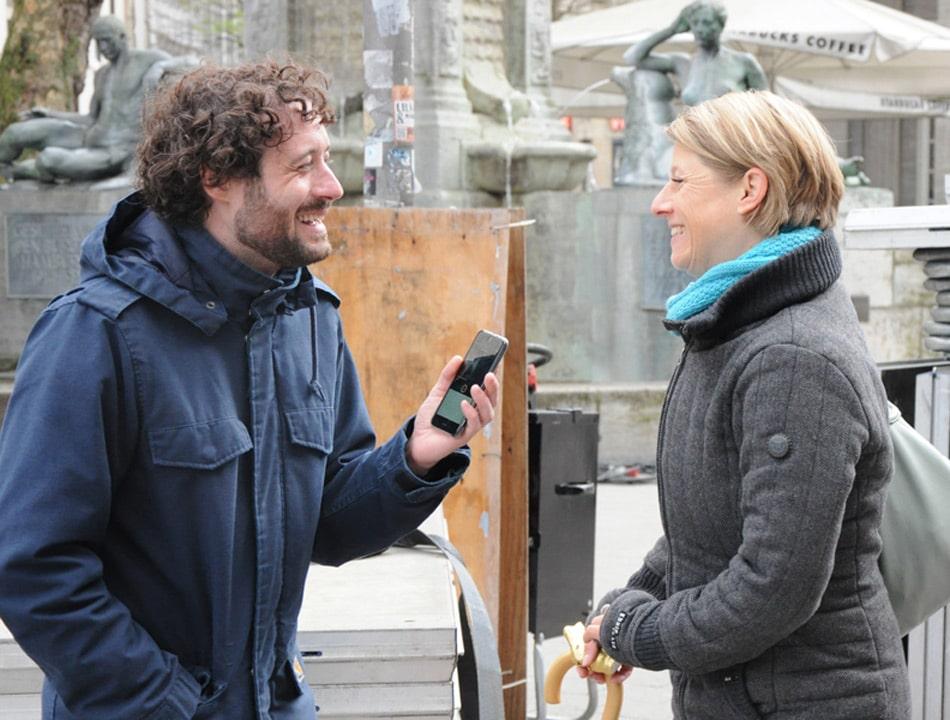 Tim Gafron interviewt Eventmanagerin Martina Burow