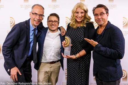 Der Deutsche Radiopreis 2017 für die Beste Morningshow geht an Radio Hamburg Foto: Deutscher Radiopreis/Moritz Mc Matzen