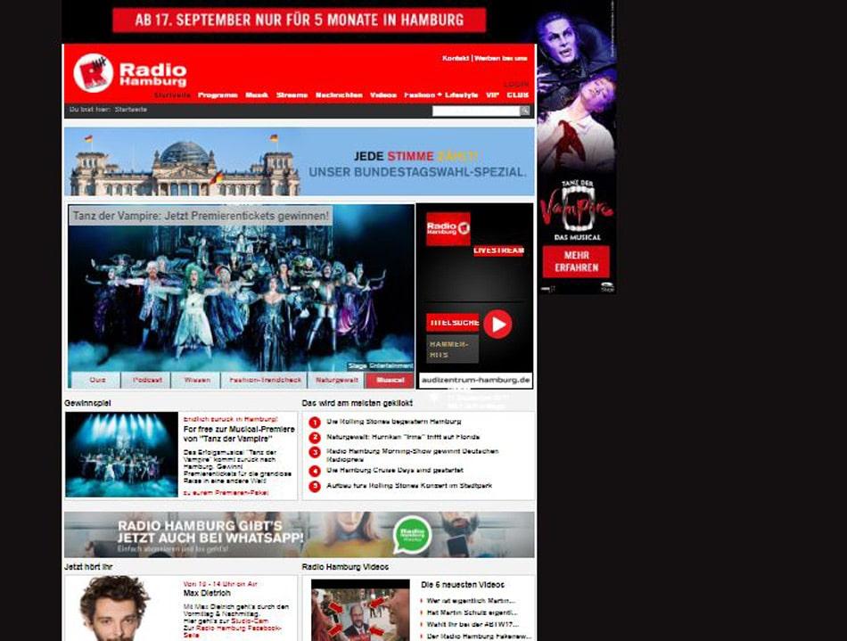 Tanz der Vampire auf radiohamburg.de