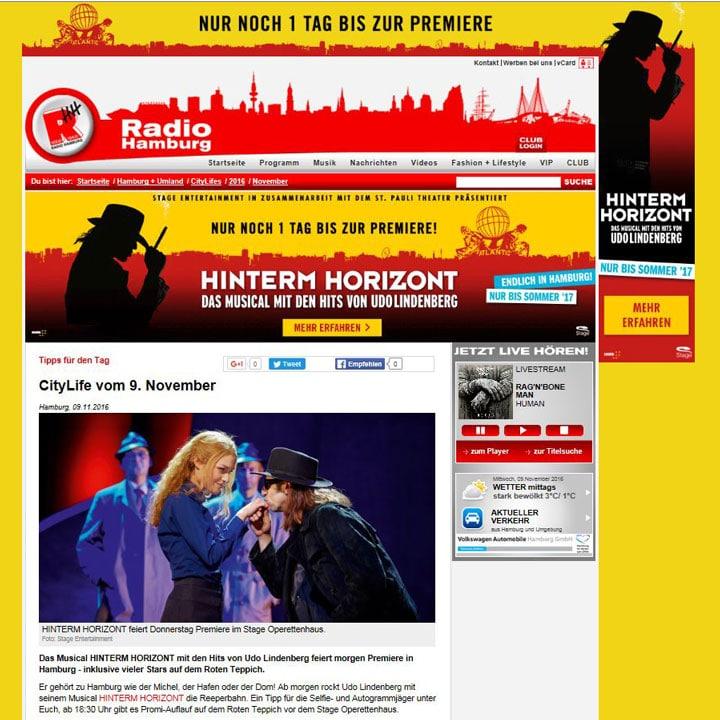 Screenshot: www.radiohamburg.de