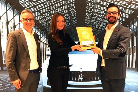 von links: Kai Rodovsky, Mitglied der Geschäftsleitung, Jana Blanck, Daniel Dawideit, Verkauf Maserati Foto: more Marketing