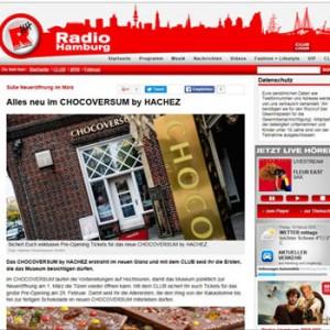 Die Radio Hamburg CLUB-Integration des CHOCOVERSUMS (Foto: Radio Hamburg)