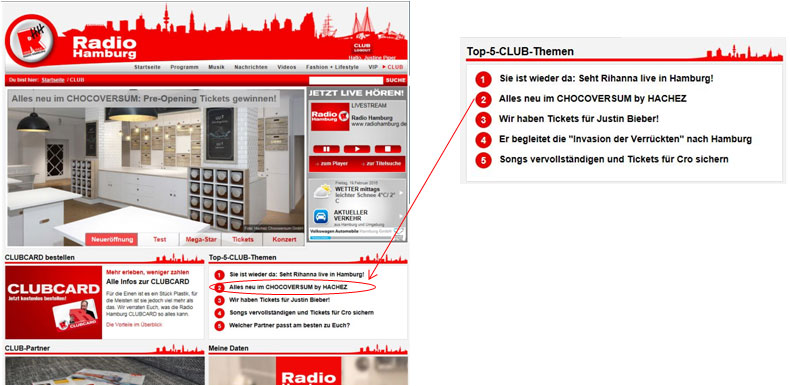 Die Neueröffnung gehörte zu den Top-Themen im Radio Hamburg CLUB (Foto: Radio Hamburg)